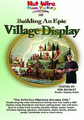 How To Build Village Display DVD Department 56 D56 Christmas Holiday Diorama