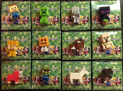 Minecraft Mini Figures Grass 1 Series Complete 12 Set New Sealed Unopened in Box