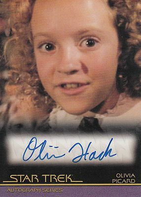 Star Trek Quotable Movies  A108 Olivia Hack autograph