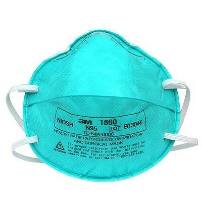 3M 1860 N95 Medical Mask - 5 EA Family Pack - 2 Reg/3 SM - Surgical/Particulate