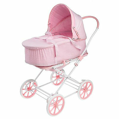 Doll 3-In-1 Pram, Carrier, and Stroller in Pink Gingham