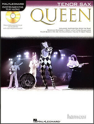 Queen Instrumental Play-Along Tenor Sax Saxophone Sheet Music Book with CD