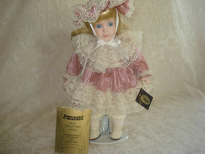1989 VINTAGE SEYMOUR MANN FINE PORCELAIN WORLD OF MUSIC / MUSIC BOX BABY DOLL