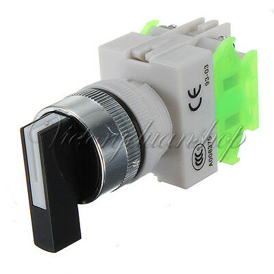 Emergency Stop Switch Rotary 3 Position Selector Power Ignition 660V 10A AC/DC