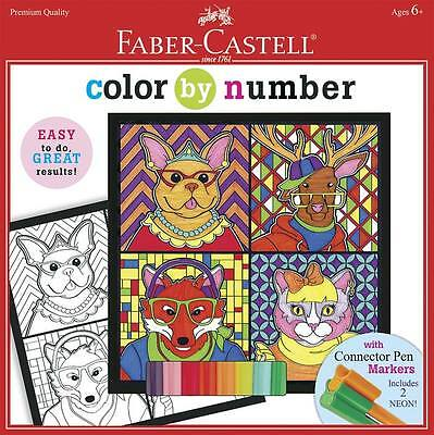 NEW Faber-Castell Color By Number Trendy Animals FC14593
