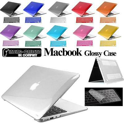 Glossy Clear Case Cover + Keyboard Skin for Apple MacBook air Pro 11 13 15 inch