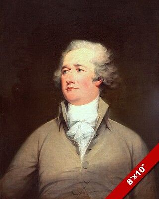 Alexander Hamilton Founding Father Us History Painting Art Real Canvas Print