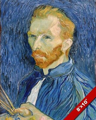 Vincent Van Gogh Self Portrait 1889 Oil Painting Art Real Canvas Giclee Print
