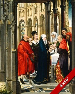 Adoration Of Jesus By The Wise Men Magi Painting Art Real Canvas GicleePrint