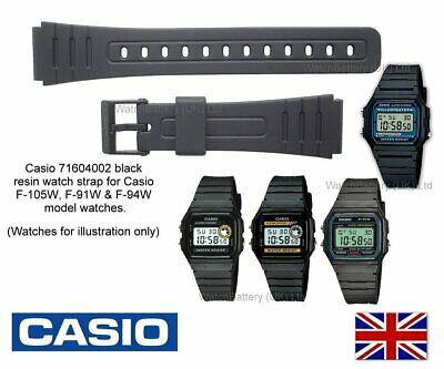 Genuine Casio Watch Strap Band F-105W F105 F-91W F91 F-94W F94 DW-8400Z DW-6600