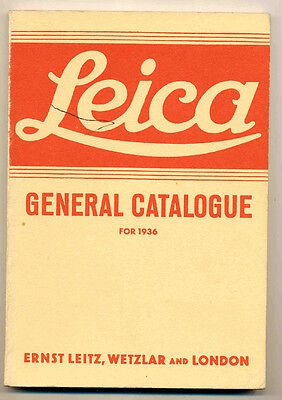 """Leica """"General Catalogue for 1936"""" ristampa anastatica in inglese D540"""