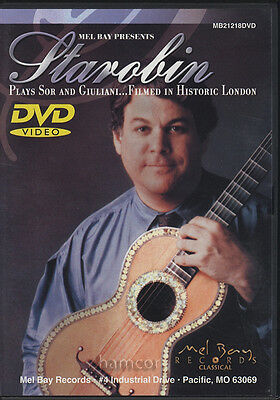 Starobin Plays Sor and Giuliani DVD Classical Classic Guitar Performance Concert