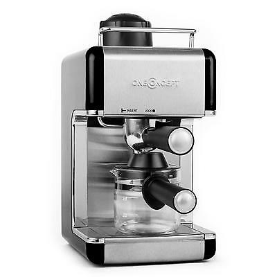 MACHINE A CAFE EXPRESSO 4 TASSES oneConcept PRESSION VAPEUR 3,5 BAR DESIGN INOX