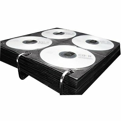 CD DVD Storage Double Side Pages Sleeves Fit 3 Ring Binder 25 Sheets GW