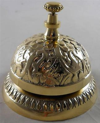 Solid Brass Victorian Style Desk Bell  Service Desk Bell Counter Bells Hotel
