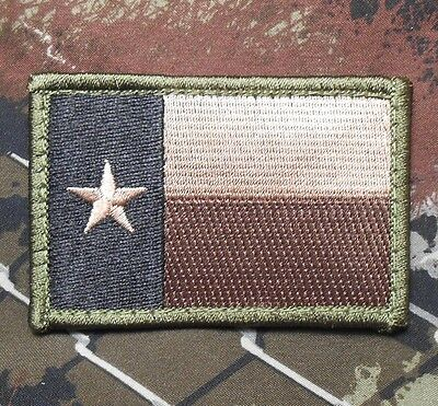 TEXAS TX STATE FLAG USA ARMY MORALE TACTICAL MILITARY BADGE FOREST IRON ON PATCH