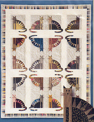 Sawtooth Cats - fabulous foundation paper pieced quilt PATTERN