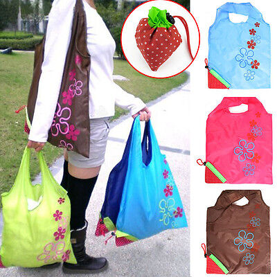 Strawberry Foldable Reusable Recycle Carrier Supermarket tote bag Shopping Bags