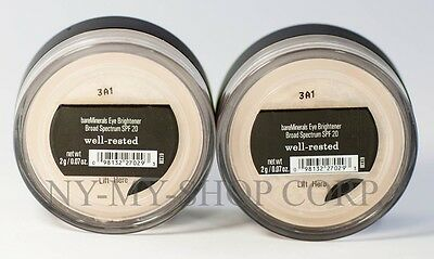 Bare Escentuals bareMinerals SPF 20  Eye Brightener Well-Rested 2g <PACK OF 2>