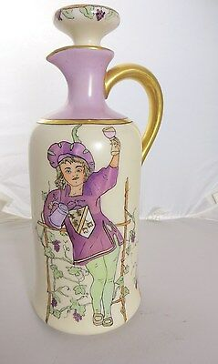 Antique D & C France Limoges Signed M. McCollough Decanter Hand Luster Painting