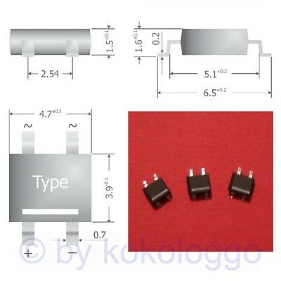 S341 - 30 Piece SMD Bridge Rectifier rectifier 80V 0,8A Mini-DIL Case