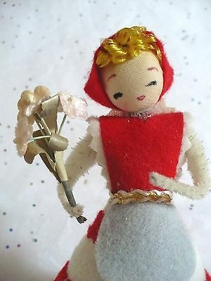 Vintage Christmas Girl Novelty Doll In Box Japan Ex.cond.