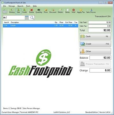 POS Software, Standard Retail Point-of-Sale, Unlimited Items, Loyalty Rewards...