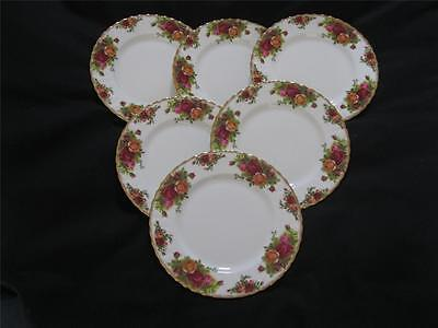 Royal Albert Old Country Roses 20.5cm (8 inches) Salad or Dessert plates x 6