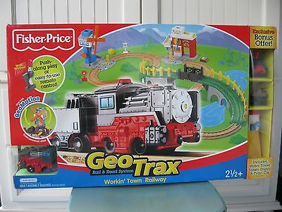 Fisher-Price GeoTrax Workin Town Railway with Exclusive Bonus New Sealed Box