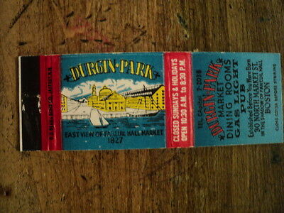 DURGIN PARK , MATCHBOOK COVER, BOSTON