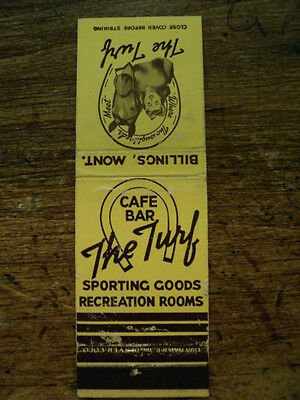 THE TURF CAFE BAR , MATCHBOOK COVER, BILLINGS, MONTANA