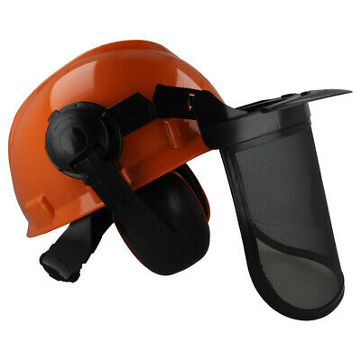 WAR TEC Chainsaw Forestry Safety Helmet Hat & Steel Mesh Visor For All Users