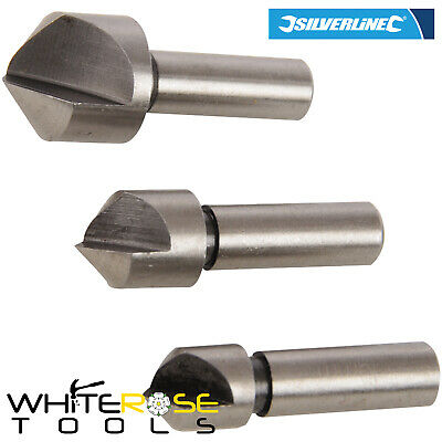 Silverline 298527 3pc HSS Countersink Set 10, 12 & 16mm Drill Bit Metal