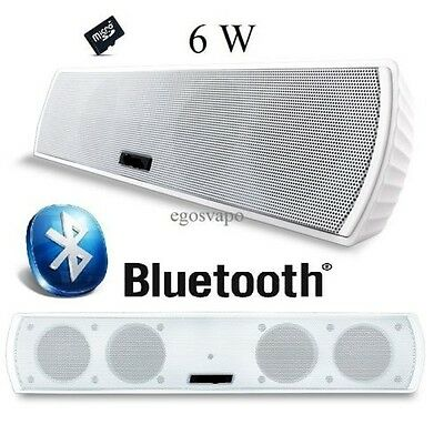 Speaker Bluetooth Cassa Amplificata Mp3 Sd Card Aux 3,5 6 W Iphone Samsung Htc