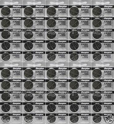 50 New Genuine Energizer CR2032 ECR2032 3V Coin Button Lithium Batteries