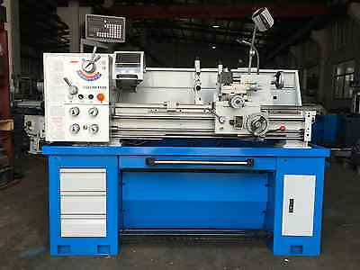 51mm Bore 2HP Metal Lathe  360x1000mm DRO, Coolant, Light, Footbrake Stand