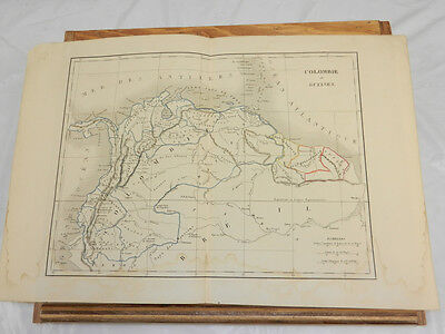 1830 Antique COLOR Map//COLUMBIA AND GUIANA