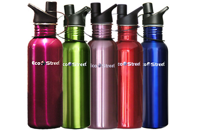 750ml 2 BOTTLES FOR THE PRICE OF 1 FAST POSTG STAINLESS STEEL WATER DRINK BOTTLE
