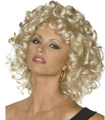 Licensed 50s 1950s Sandy from Grease Last Scene Fancy Dress Wig  New by Smiffys