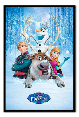 Framed Official Disney Frozen The Movie Snow Group Poster Ready To Hang