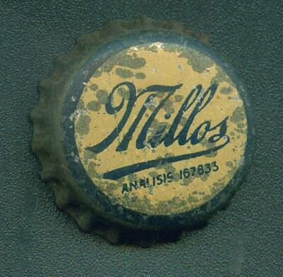 ANTIQUE MILLOS SODA CROWN CAP WITH CORK MADE IN ARGENTINA