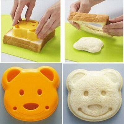 Yellow Bear Design DIY Sandwich Toast Bread Making Cutter Mold with Box