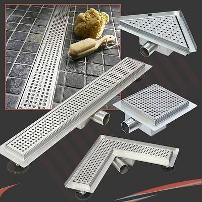 Easy Clean Stainless Steel Shower Wetroom Drainage System Various Styles & Sizes