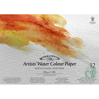 Winsor & Newton Artist WaterColour Paper Pad A5 300gsm. For Artists Water Colour