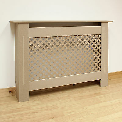 Hartleys Traditional Small/Medium Size Radiator Cabinet/Cover MDF Wood Unpainted