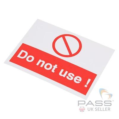 Lockout Self Adhesive Labels - 'Do Not Use' - 55 x 75mm, pack of 10