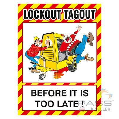 Lockout Tagout Before It's Too Late Poster