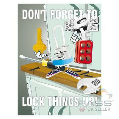 LOTO Procedures Poster - ''Don't Forget to Lock Things Up''