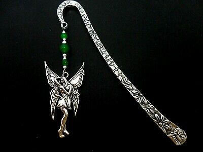 A Tibetan Silver  Fairy/angel Charm & Purple Bead  Bookmark. New.