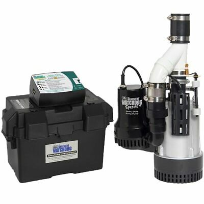 Basement Watchdog BW4000 - 1/2 HP Combination Primary and Backup Sump Pump Sy...
